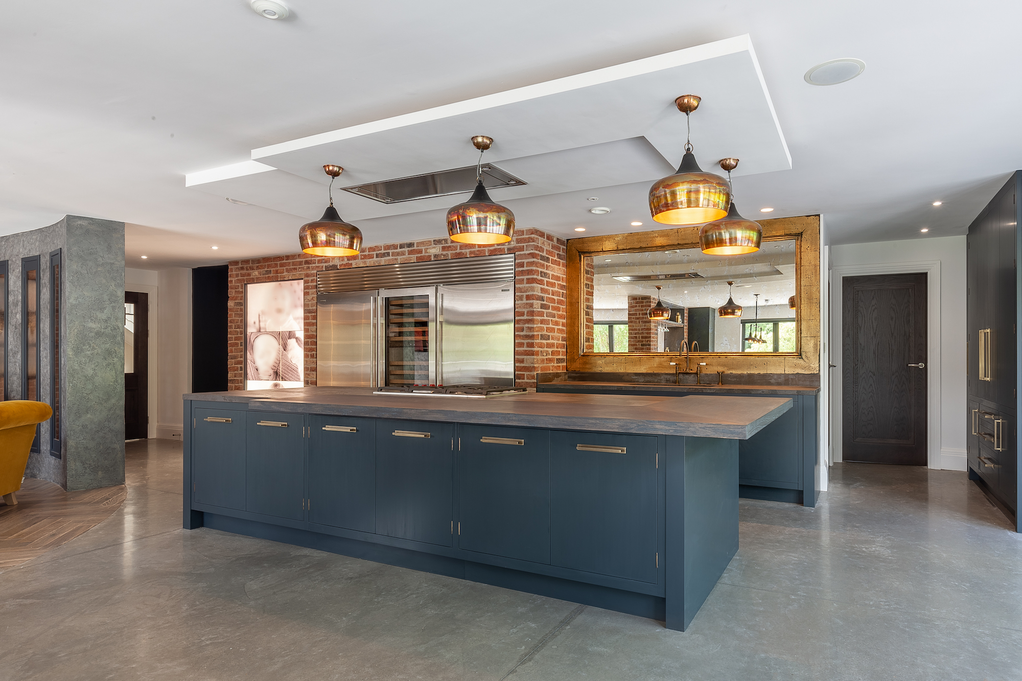Hand Painted Industrial Kitchen - Prestbury, Cheshire