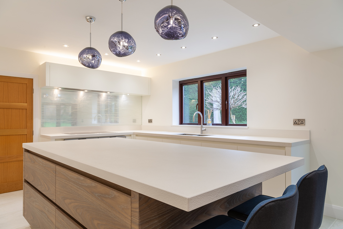 Driftwood Satin White Kitchen - Knutsford, Cheshire
