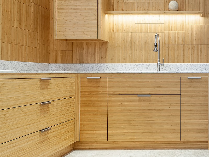 Bamboo and Terrazzo Kitchen - Our Showroom, Macclesfield