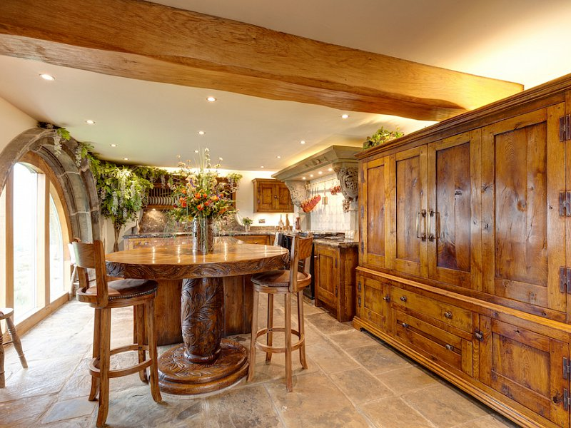 Distressed Character Oak Kitchen - Mellor, Cheshire