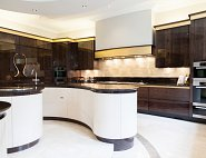 Parapan White High Gloss Oak Kitchen - Alderley Edge
