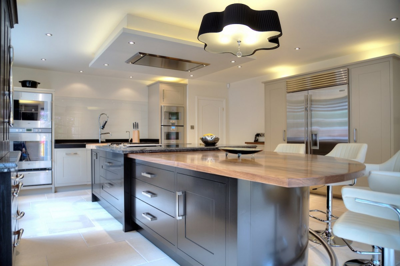 A pewter stone kitchen in Wilmslow by David Lisle Kitchen Design
