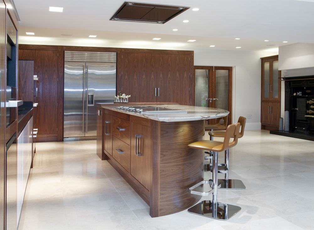 Walnut Gloss White Kitchen Prestbury Cheshire